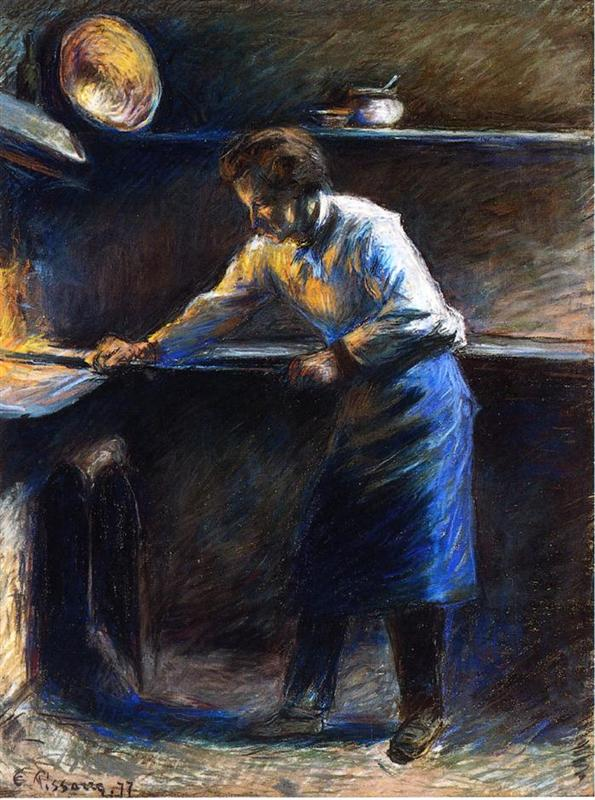 Eugene Murer at his pastry oven_Pissarro
