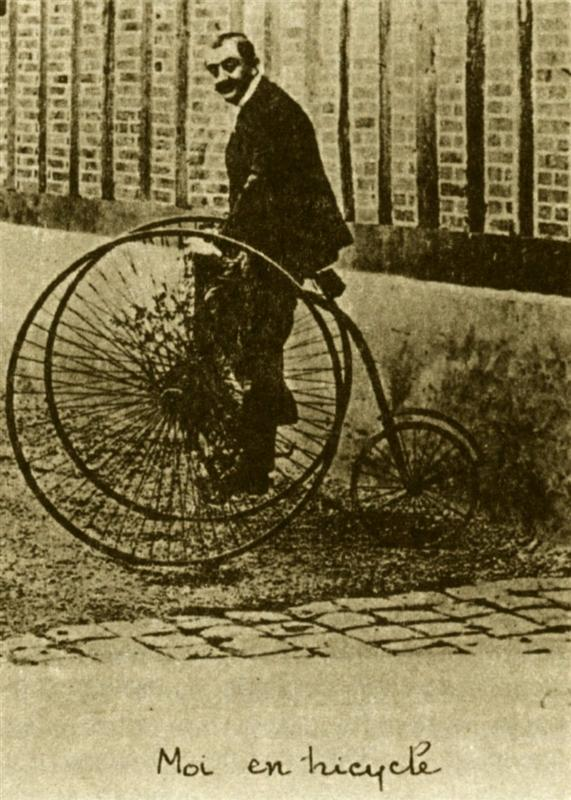 Maurice_Guibert and his bicycle