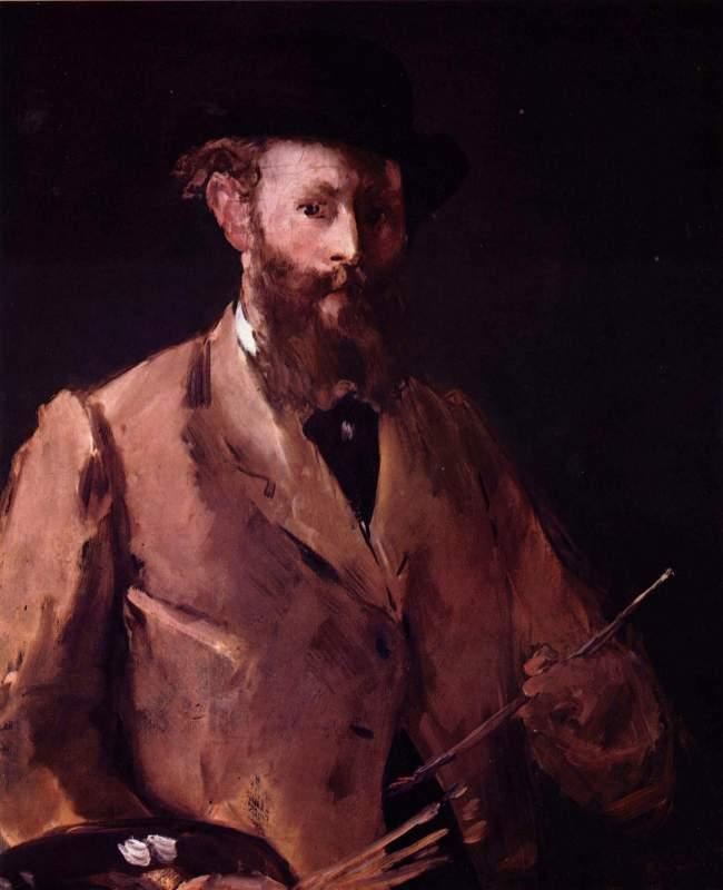 Self Portrait with Pallette by Manet