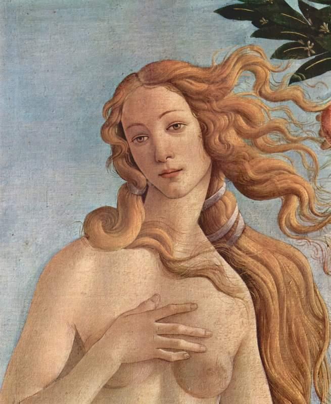 Birth of Venus Detail 3 by Botticelli