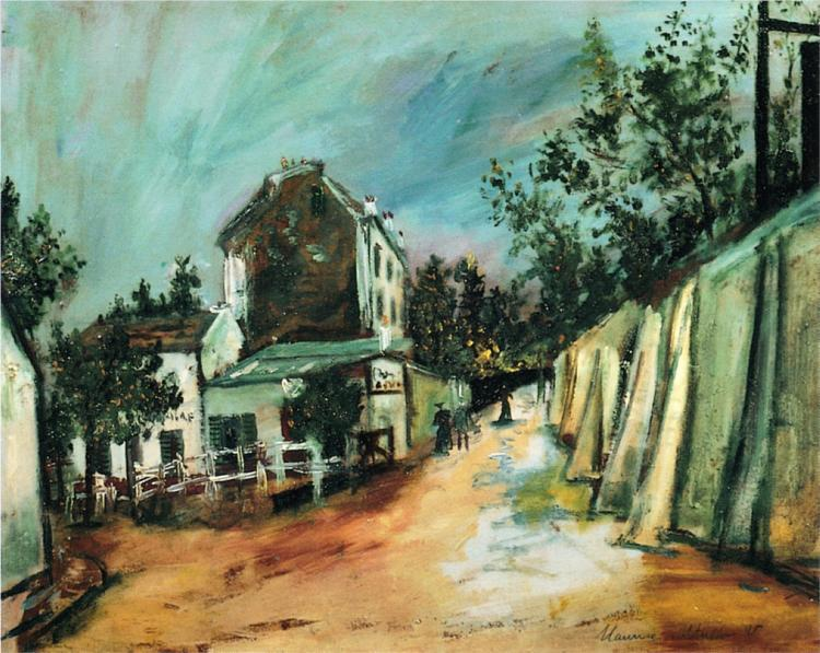 Marice Utrillo_saint-vincent-stree-and-the-lapin-agile.jpg!Large