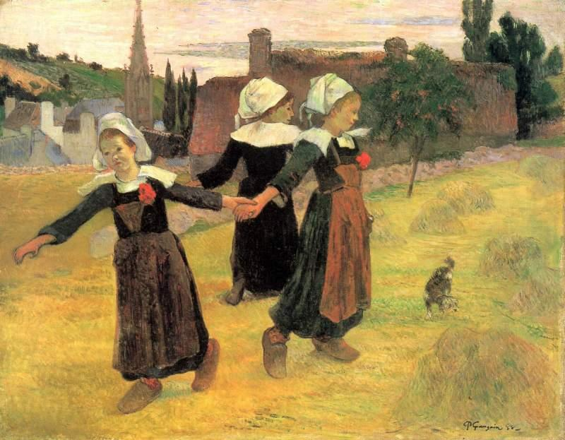 Small Breton Women by Gauguin